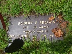 Pvt Robert F Brown