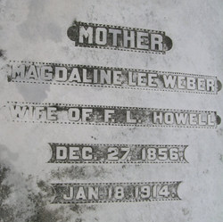 Magdaline Lee <i>Weber</i> Howell