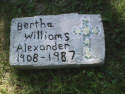 Bertha <i>Williams</i> Alexander