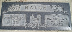 Marion Clark Hatch