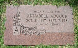 Anabell <i>Baker</i> Adcock