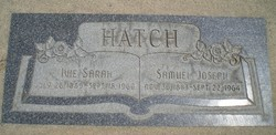 Ivie Sarah <i>Teeples</i> Hatch