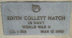 Edith <i>Collett</i> Hatch