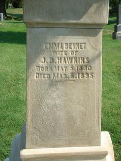 Emma A <i>Bennett</i> Hawkins