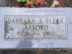 Barbara Jean <i>Fleek</i> Arford
