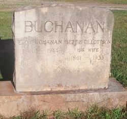 Elizabeth Bettie <i>Tillotson</i> Buchanan