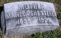 Matilda E <i>Nichols</i> Shetterly