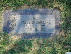 Lydia Mahala <i>Osguthorpe</i> Hawkins