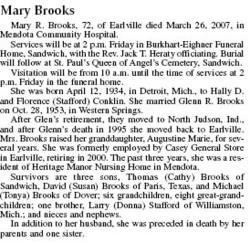 Mary <i>Conklin</i> Brooks