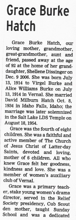 Grace <i>Burke</i> Hatch