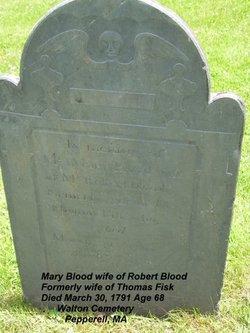 Mary <i>Parker</i> Blood