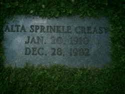 Alta <i>Sprinkle</i> Creasy