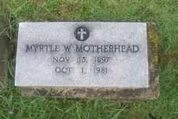 Myrtle <i>Wisehart</i> Motherhead