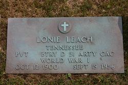 Alonzo Lonie Leach
