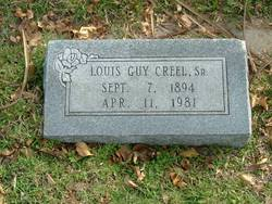 Louis Guy Creel, Sr