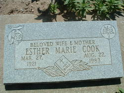 Esther Marie <i>Sargeant</i> Cook
