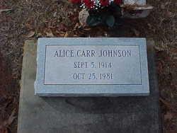 Alice <i>Carr</i> Johnson