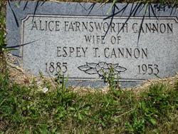 Alice Yates <i>Farnsworth</i> Cannon