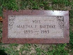 Martha E <i>Rusch</i> Baethke