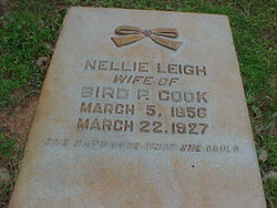 Mary Ellen Nellie <i>Leigh</i> Cook
