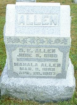 Mahala <i>Spencer</i> Allen