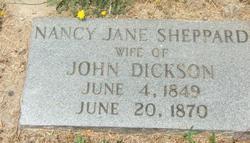 Nancy Jane <i>Sheppard</i> Dickson
