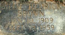 Billie <i>Hedrick</i> Brown