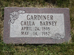 Calla <i>Barney</i> Gardiner