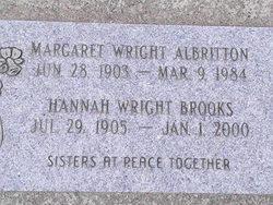 Margaret <i>Wright</i> Albritton