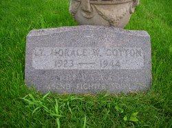 Lieut Horace W Cotton
