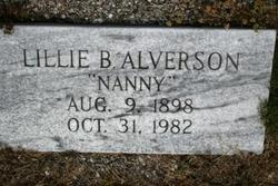 Lillie Nanny <i>Bagwell</i> Alverson