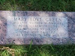 Mary <i>Love</i> Green