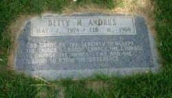 Betty Mae <i>Hargis</i> Andrus