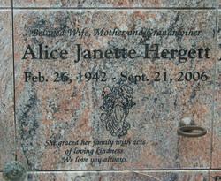 Alice Janette Hergett