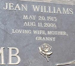 Jean <i>Williams</i> Holcomb