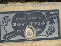 Mary Lee <i>Cook</i> Burr