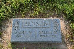Sadie M. Benson