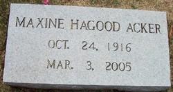 Maxine <i>Hagood</i> Acker