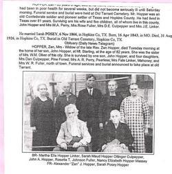 Rev Alexander Johnson Hopper