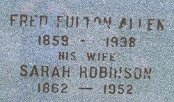 Sarah <i>Robinson</i> Allen