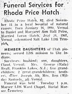Rhoda <i>Price</i> Hatch