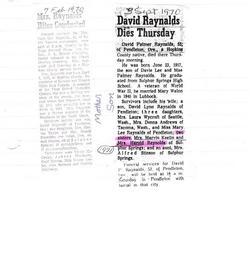 David Palmer Raynalds