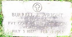 Pvt Burrell E. Wright