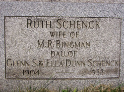 Ruth M <i>Schenck</i> Bingman