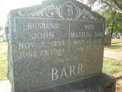 Matilda Jane <i>Moore</i> Barr