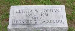 Letitia W <i>Jordan</i> Bacon