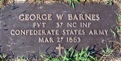Pvt George W. Barnes