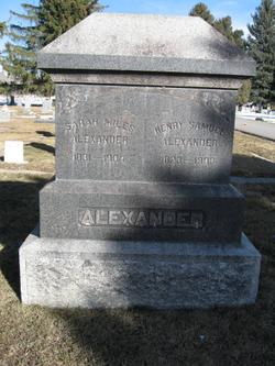 Sarah Simonds <i>Miles</i> Alexander