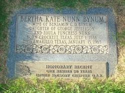 Bertha Kate <i>Nunn</i> Bynum