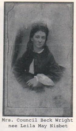 Leila May Leil <i>Nisbet</i> Wright
